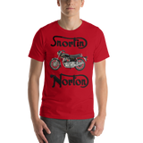 Bella and Canvas Short-Sleeve Unisex T-Shirt: Snortin Norton black text