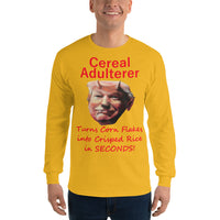 Gildan Long Sleeve T-Shirt: Cereal adulterer red text