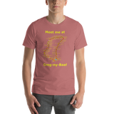 Bell and Canvas Short-Sleeve Unisex T-Shirt: Creg-ny-Baa yellow text