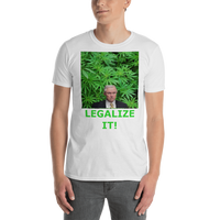 Gildan Short-Sleeve Unisex T-Shirt: Jeff Sessions LEGALIZE IT green text