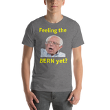 Bella and Canvas Short-Sleeve Unisex T-Shirt: Feeling the Bern yet yellow text