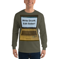 Gildan Long Sleeve T-Shirt: Write Drunk