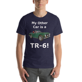 Bella and Canvas Short-Sleeve Unisex T-Shirt: TR-6 white text