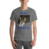 Bella and Canvas Short-Sleeve Unisex T-Shirt: kneads me blue text