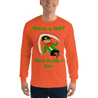 Gildan Long Sleeve T-Shirt: Gay St Paddy's Day