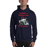 Gildan Hooded Sweatshirt: Kitty porn 1 red text