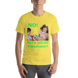 Bella and Canvas Short-Sleeve Unisex T-Shirt: Pacemaker green text