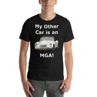 Bella and Canvas Short-Sleeve Unisex T-Shirt: MGA white text