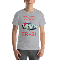 Bella and Canvas Short-Sleeve Unisex T-Shirt: TR-2 red text