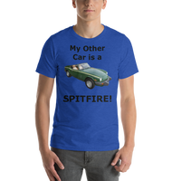 Bella and Canvas Short-Sleeve Unisex T-Shirt: Spitfire black text