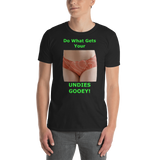 Gildan Short-Sleeve Unisex T-Shirt: Undies gooey female green text