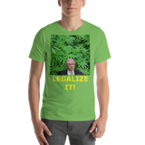 Bella and Canvas Short-Sleeve Unisex T-Shirt: Jeff Sessions LEGALIZE IT yellow text