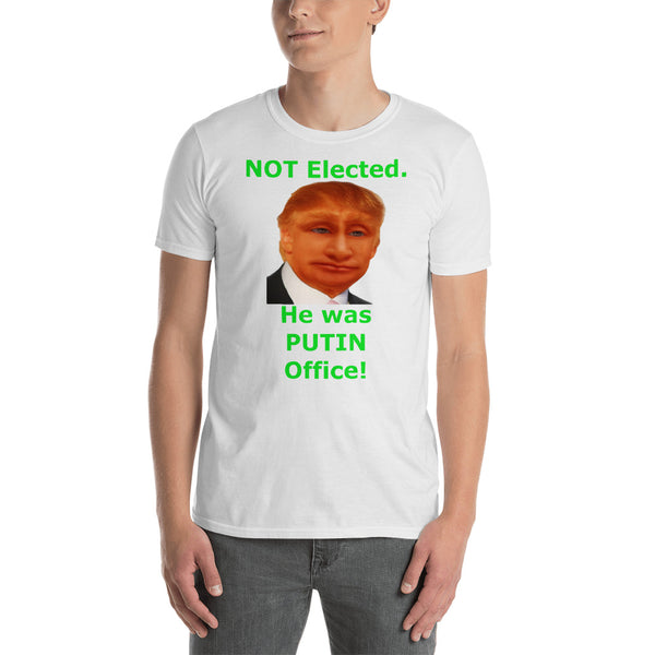 Gildan Short-Sleeve Unisex T-Shirt: Putin office 2 green text