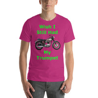 Bella and Canvas Short-Sleeve Unisex T-Shirt: Still had Trumpet green text