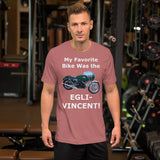 Bella and Canvas Short-Sleeve Unisex T-Shirt: Favorite Bike Egli Vincent white text