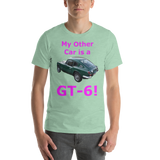 Bella and Canvas Short-Sleeve Unisex T-Shirt: GT-6 magenta text