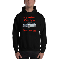 Gildan Hooded Sweatshirt: 3000 MK III red text