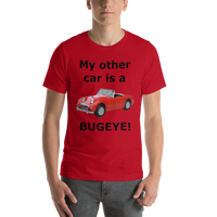 Bella and Canvas Short-Sleeve Unisex T-Shirt: Bugeye black text