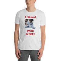 Gildan Short-Sleeve Unisex T-Shirt: I stand with Nike red text