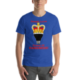 Bella and Canvas Short-Sleeve Unisex T-Shirt: Prince of Darkness red text