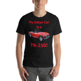 Bella and Canvas Short-Sleeve Unisex T-Shirt: TR-250 red text