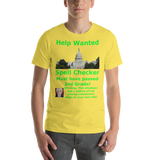 Bella and Canvas Short-Sleeve Unisex T-Shirt: Help Wanted Green Text