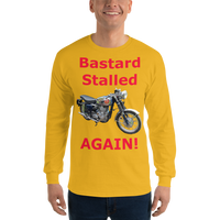 Gildan Long Sleeve T-Shirt: BSA Gold Star red text
