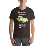 Bella and Canvas Short-Sleeve Unisex T-Shirt: Lotus Elite white text