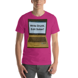 Bella and Canvas Short-Sleeve Unisex T-Shirt: write drunk darker colors