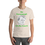 Bella and Canvas Short-Sleeve Unisex T-Shirt: no kavanaugh green text