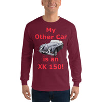 Gildan Long Sleeve T-Shirt: XK 150 red text