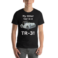 Bella and Canvas Short-Sleeve Unisex T-Shirt: TR-3 white text