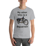 Bella and Canvas Short-Sleeve Unisex T-Shirt: Squariel with black text