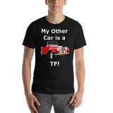 Bella and Canvas Short-Sleeve Unisex T-Shirt: TF white text