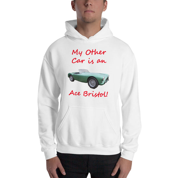 Gildan Hooded Sweatshirt: Other car Ace Bristol red text