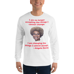 Gildan Long Sleeve T-Shirt: Angela Davis quote red text
