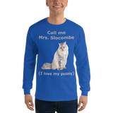 Gildan Long Sleeve T-Shirt: Mrs Slocombe silver text