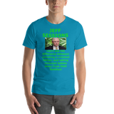 Bella and Canvas Short-Sleeve Unisex T-Shirt: Jeff Sessions difference, Green text