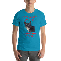 Bella and Canvas Short-Sleeve Unisex T-Shirt: Have pussy red text