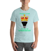 Bella and Canvas Short-Sleeve Unisex T-Shirt: Prince of Darkness green text