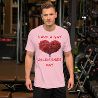 Bella and Canvas Short-Sleeve Unisex T-Shirt: gay valentine 3