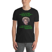 Gildan Short-Sleeve Unisex T-Shirt: Angela Davis quote green text