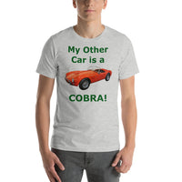 Bella and Canvas Short-Sleeve Unisex T-Shirt: Other car Cobra BRG text