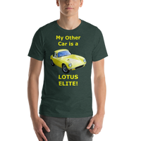 Bella and Canvas Short-Sleeve Unisex T-Shirt: Lotus Elite yellow text