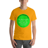 Bella and Canvas Short-Sleeve Unisex T-Shirt: Rount Tuit green