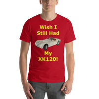 Bella and Canvas Short-Sleeve Unisex T-Shirt: still had XK 120 yellow text