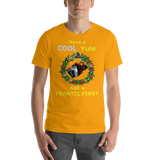 Bella and Canvas Short-Sleeve Unisex T-Shirt: Cool Yule yellow text