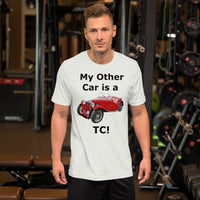 Bella and Canvas Short-Sleeve Unisex T-Shirt: TC black text