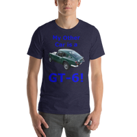 Bella and Canvas Short-Sleeve Unisex T-Shirt: GT-6 blue text