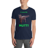 Gildan Short-Sleeve Unisex T-Shirt: Mutt green text